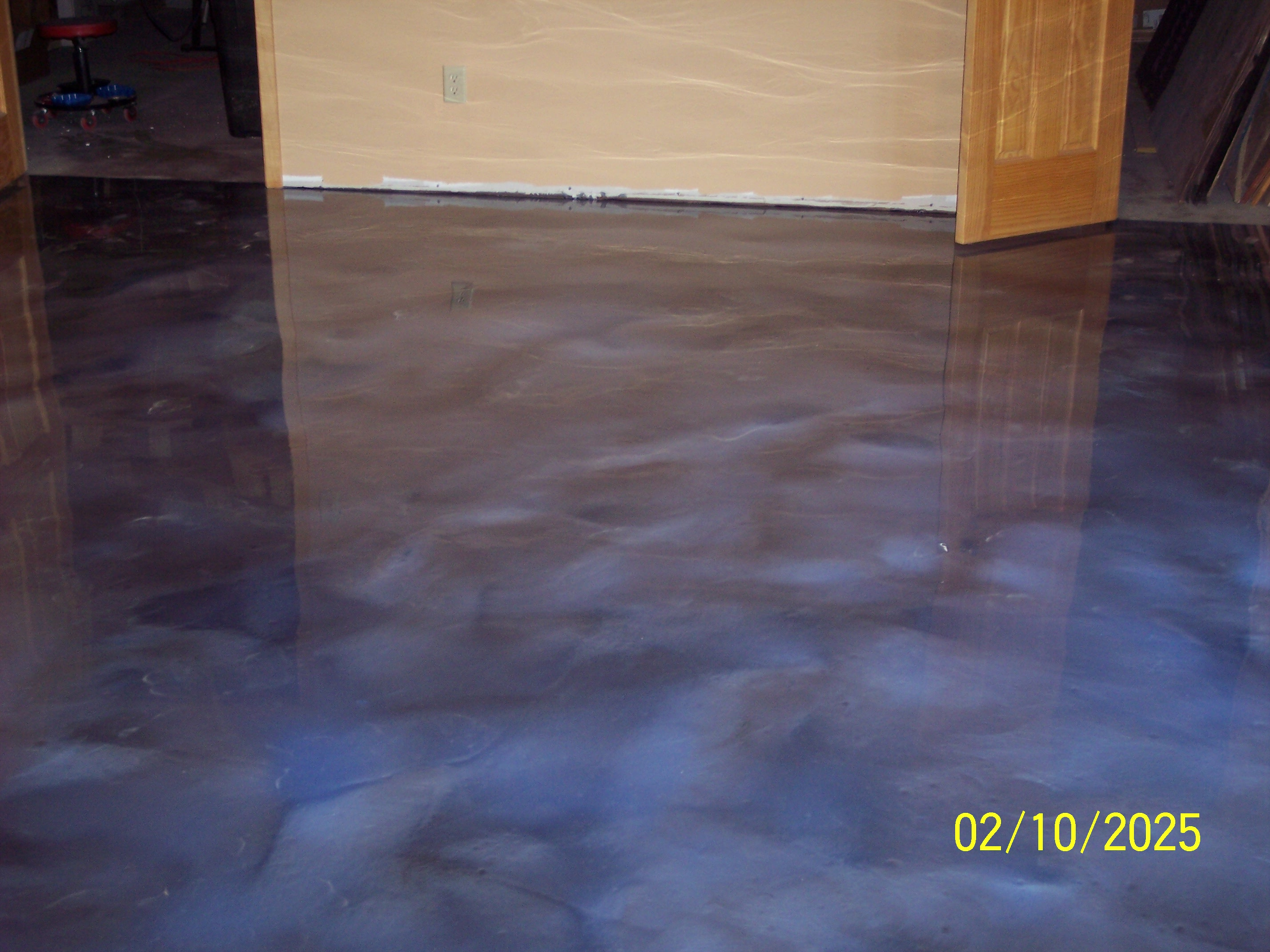 Metallic epoxy flooring superior resurfacing for Floor to floor